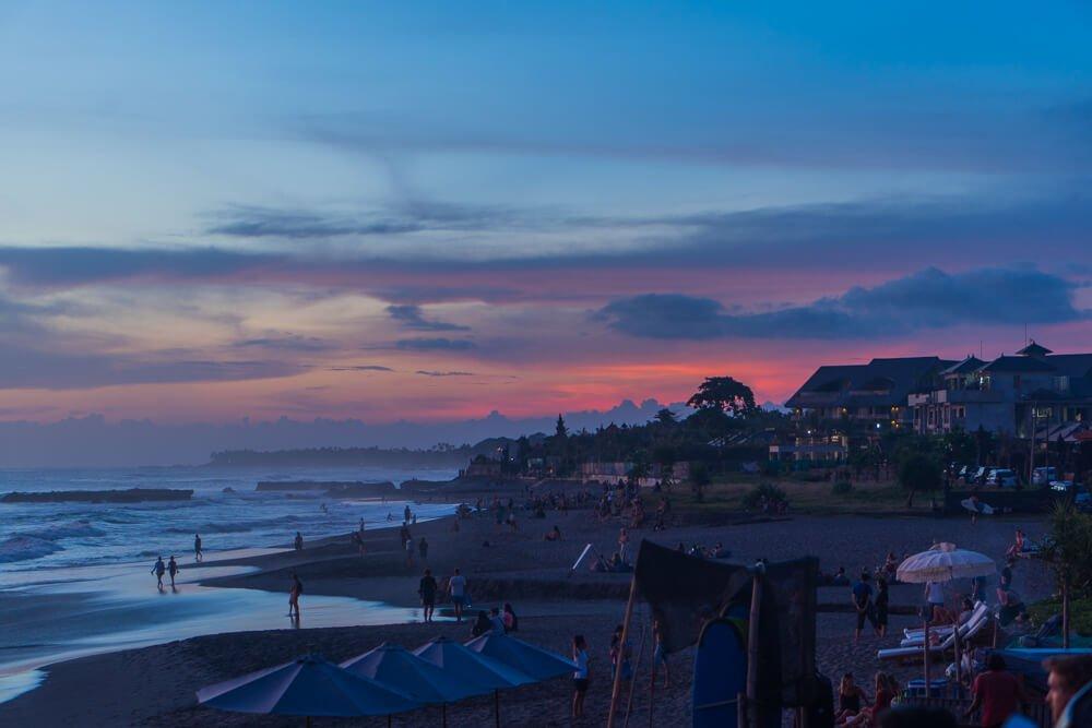 Sunset at Canggu beach - 2 week Bali itinerary