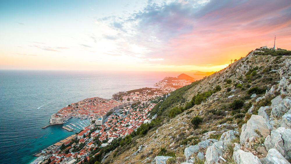 Sunset over Dubrovnik - 10 days Croatia itinerary