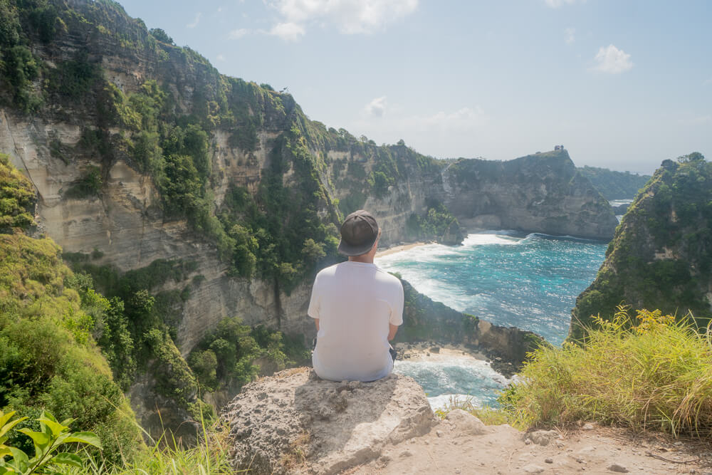 View from Thousand Island Viewpoint in Nusa Penida, Bali