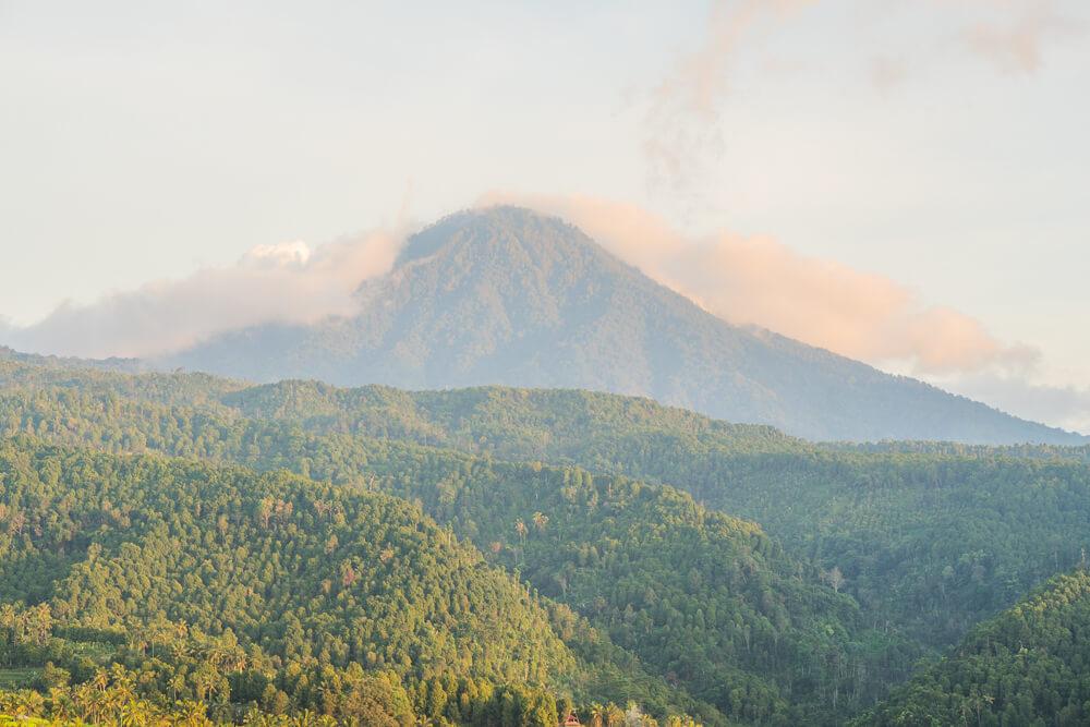 Volcano view from Munduk village