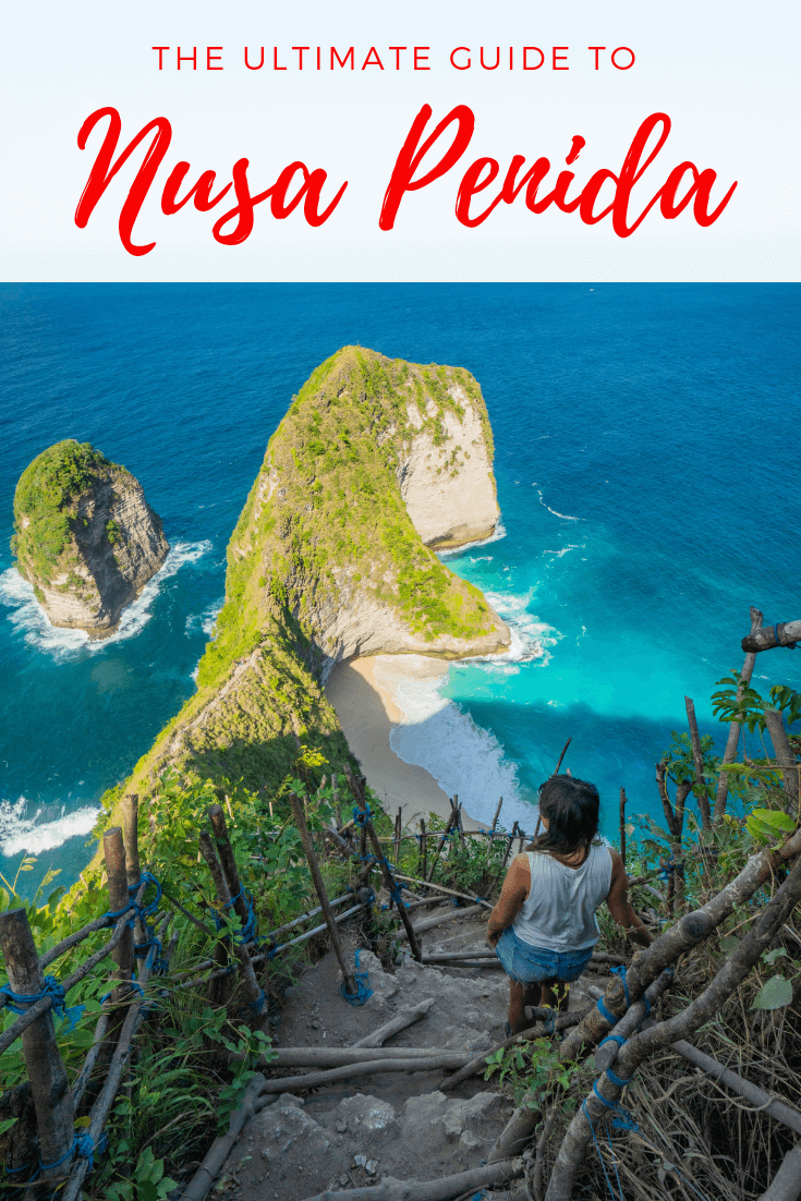 Nusa Penida is a great day trip from Bali; there are many things to do. From snorkelling or diving at manta point or Crystal Bay, to going to the instagram famous treehouse for a photoshoot to taking photography at sunset at broken beach or angel billabong and visiting beautiful Kelingking beach. Where to stay in Nusa Penida is answered in our guide with various accommodation or hotels options. Find the perfect spots to tour around with this travel guide to Nusa Penida! #bali #nusapenida