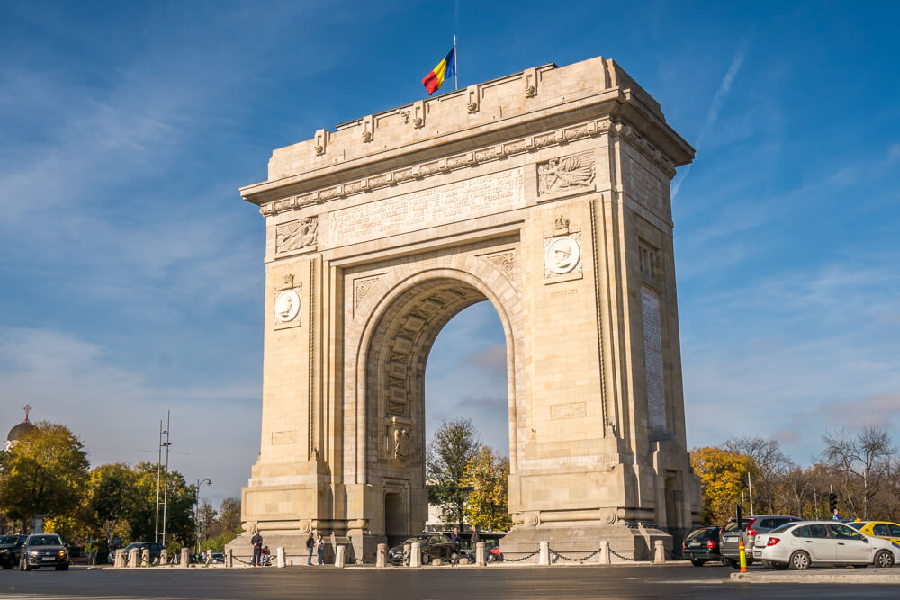 Arcul de Triumf or Arch of Triumph - visiting here is one of the top things to do in Bucharest