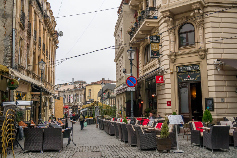 Bars in the Old Town of Bucharest - a hotspot for nightlife