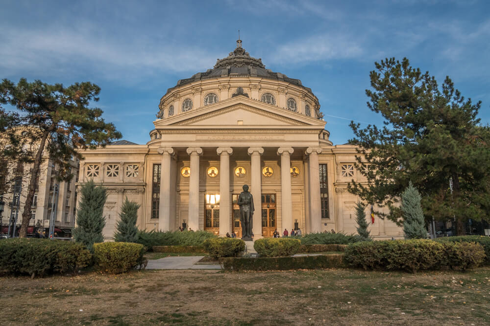 Romanian Athenaeum - one of the most beautiful buildings in Bucharest