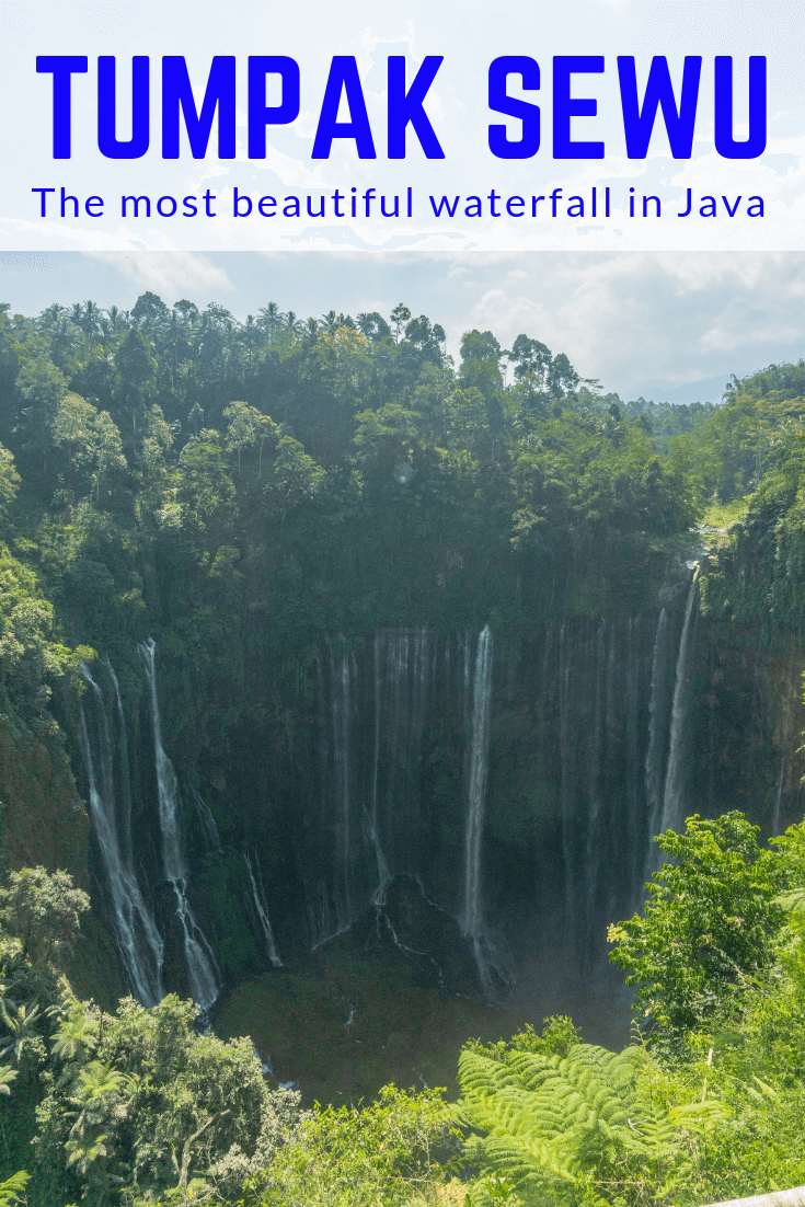 Tumpak Sewu waterfall has to be one of our favourite waterfall and travel destinations we've visited. Located in East Java, close to Bali and around 2 hours from Malang and 3 from Problinggo. This waterfall is easily the best in Java and one of the best in Indonesia. Find out everything from how to get there to what the walk is like to general tips for visiting Tumpak Sewu waterfall! #waterfall #java #indonesia