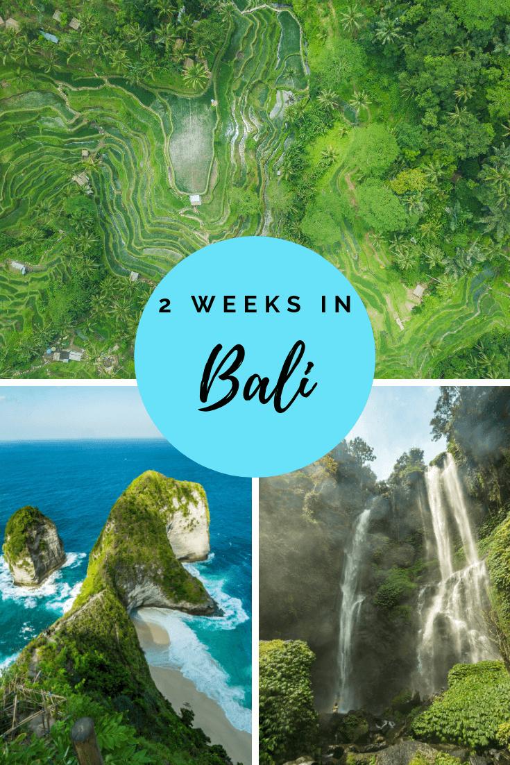 2 week itinerary for Bali pin