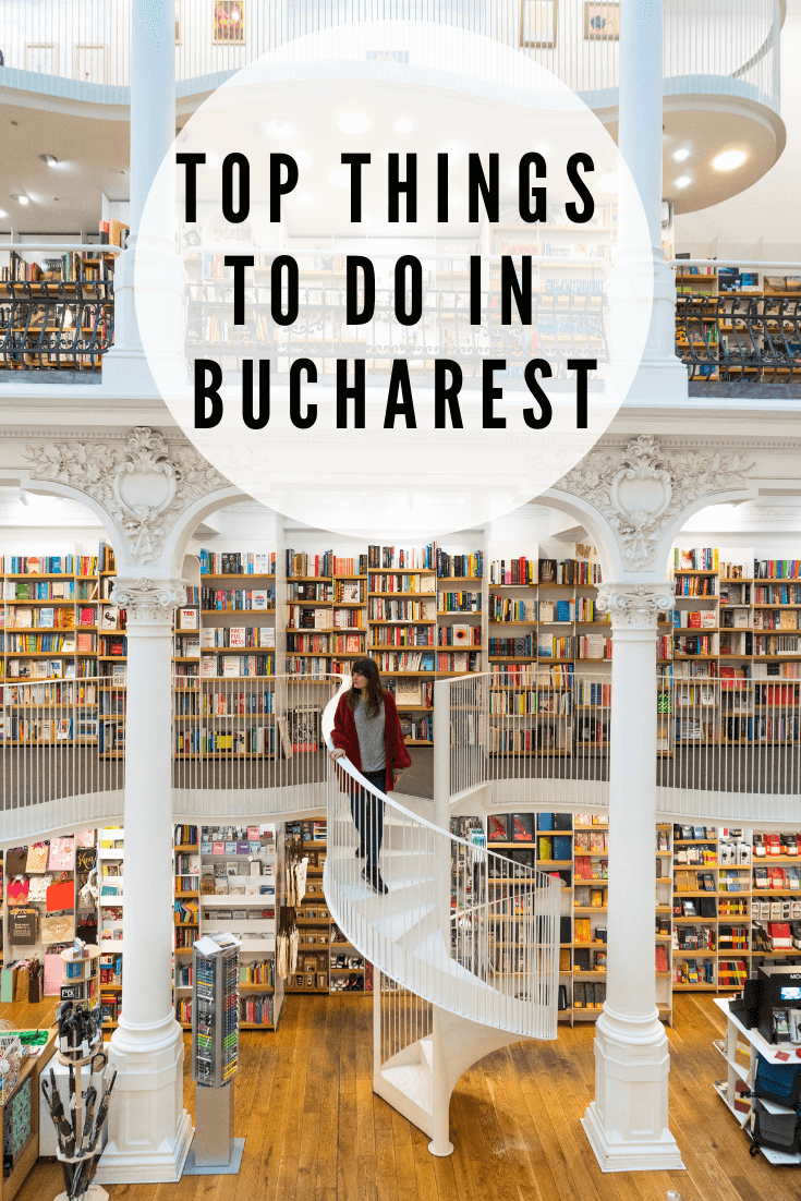 This is the ultimate list of the best things to do in Bucharest. Whether you're visiting in winter, summer, spring or autumn, there's something for everyone here! This guide covers the best buildings and architecture to visit from the Old Town to the Palace of Parliament, the best nightlife, the umbrella street, famous bookstore and more. Click the pin to read about the best spots to visit in Bucharest! #bucharest #romania #europe