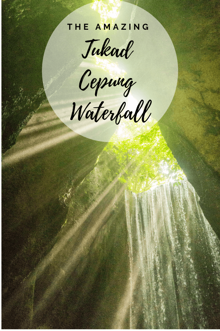 Tukad Cepung waterfall is found near Ubud in Bali Indonesia. It's one of the most beautiful waterfalls we've seen in Bali. This guide covers how to get there, best time to visit, the walk to Tukad Cepung and general tips and advice. #bali #waterfalls #waterfall #travel