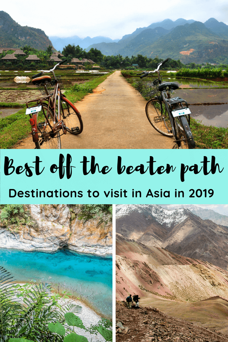 We asked fellow travel bloggers to ask us what their favourite off the beaten path destinations were in Asia. From the best landscapes to food to culture to beaches to architecture. These places have it all. We cover Brunei, Thailand, Vietnam, India, Maldives, China, South Korea, Indonesia and more! #asia #offthebeatenpath #placestogo