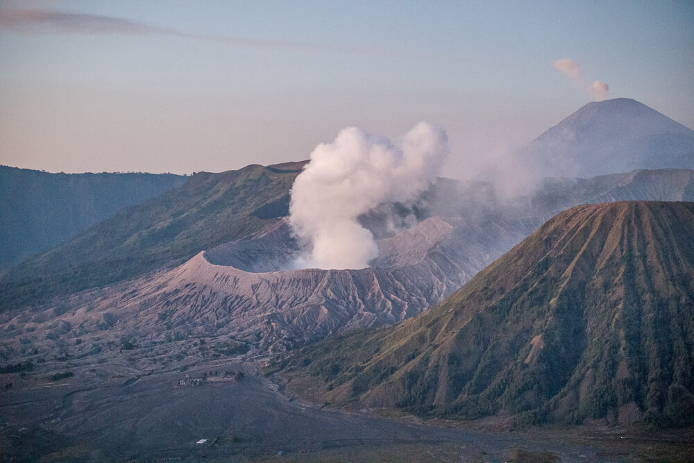 Close up of Mount Bromo, East Java, Indonesia