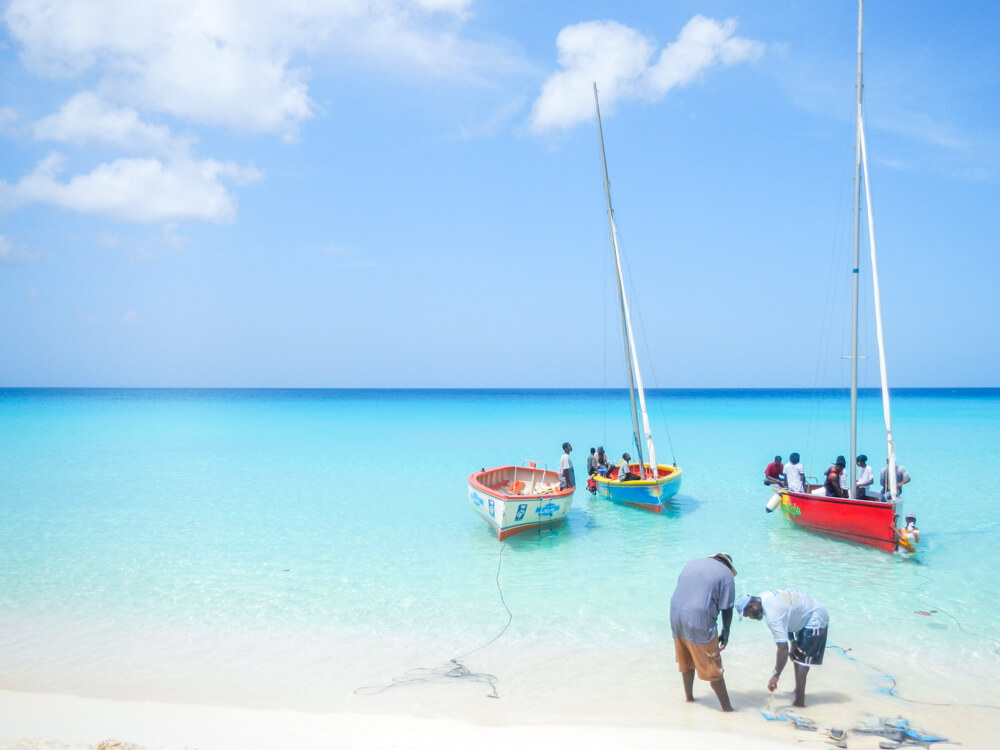Fishermen in Meads Bay, Anguilla - off the beaten track places in North America