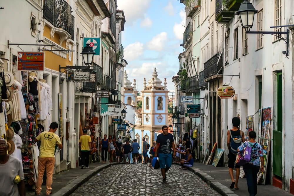 Pelourinho (Historic Center) in Salvador, Brazil - off the beaten path in South America