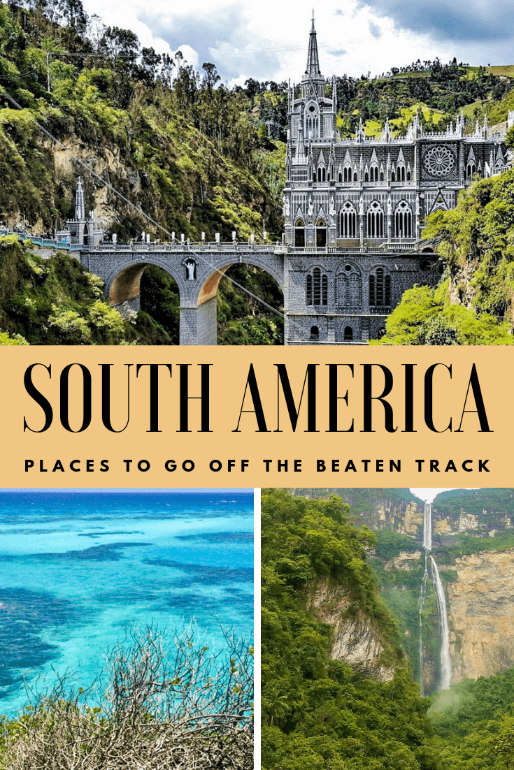 Whether you're going on a honeymoon or a backpacking travel adventure, South America has so many destinations to visit that are off the beaten path. If you're visiting South America make sure to include these places on your itinerary! From beaches to jungle to nature to cities. These off the beaten track destinations should be on your bucket list! Click to find out which cities made the list! #southamerica #travel #places