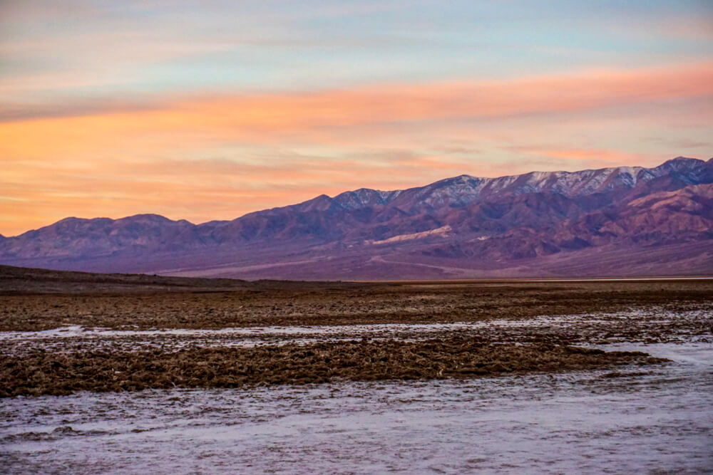 Sunrise over Badwater Basin in Death Valley National Park, USA - North America