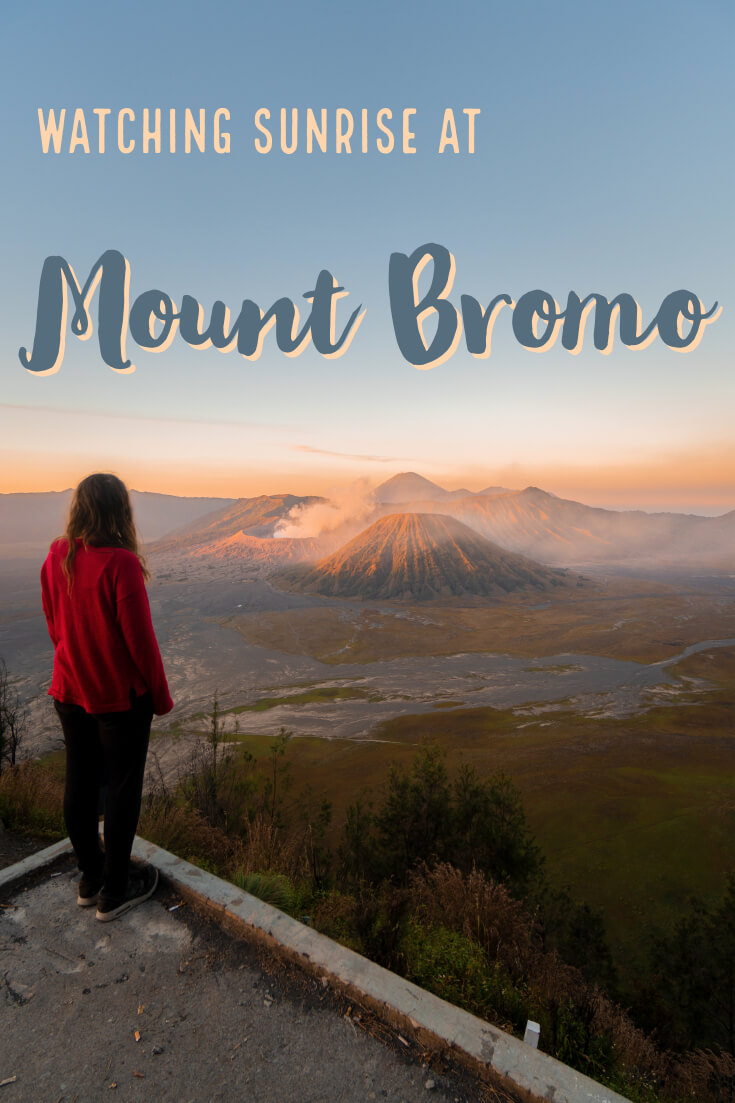 One of the most incredible experiences we had travelling Indonesia was watching sunrise over Mount Bromo. This national park is a must do for any trip to Indonesia. Watch this iconic landscape at sunrise, then head to the crater to see the power of Mount Bromo. This trip can be done as an adventure on your own or with a tour/jeep. Find out more with this article! #bromo #indonesia #mountbromo