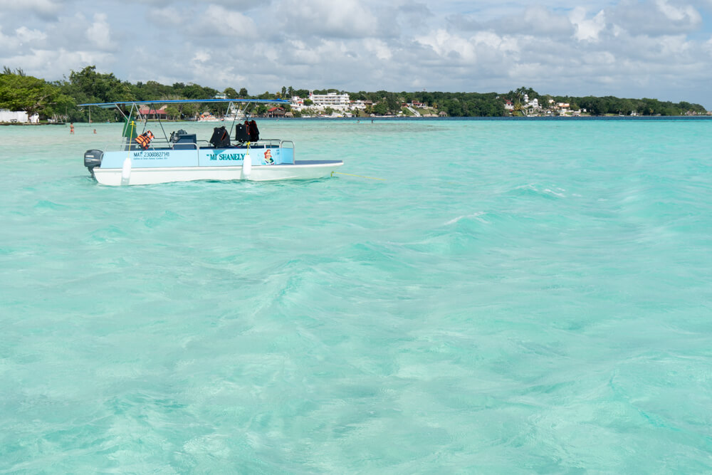 A boat tour - one of the best things to do in Bacalar Lagoon, Mexico