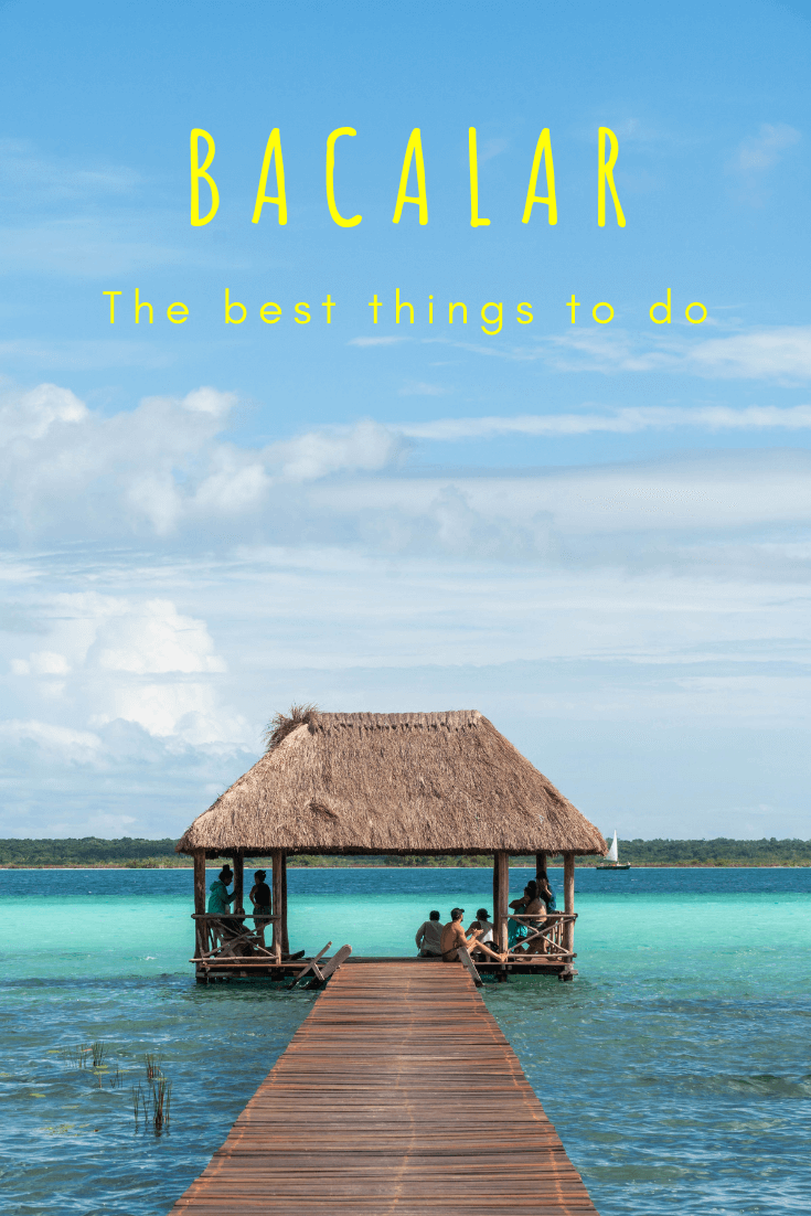 This beautiful small town in Quintana Roo is one you must visit on your vacations or travels. Bacalar lagoon is close to Chetumul and 5 hours from Cancun. Here the water is some of the clearest you will see in Mexico. There are plenty of things to do in Bacalar – from boat tours to Canal de los Piratas to enjoying swings at the cenotes. Find out what else there is to do here plus which restaurants to visit and where to stay with this article! #mexico #centralamerica #paradise