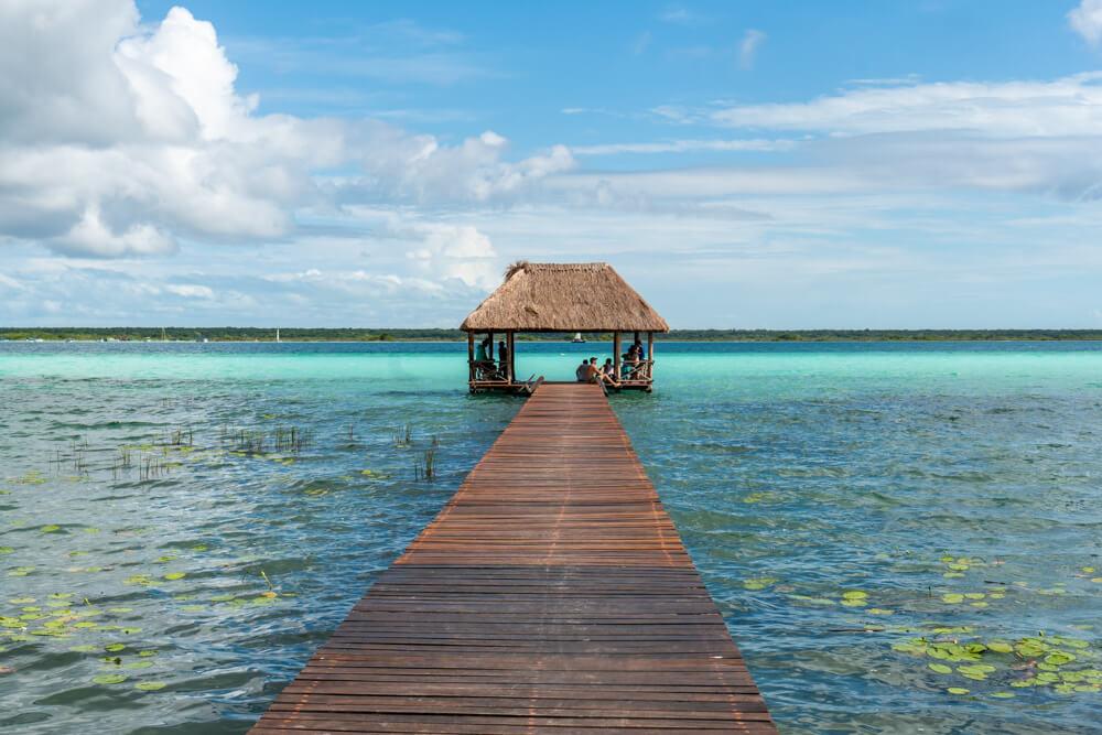 Jetty at Bacalar Lagoon