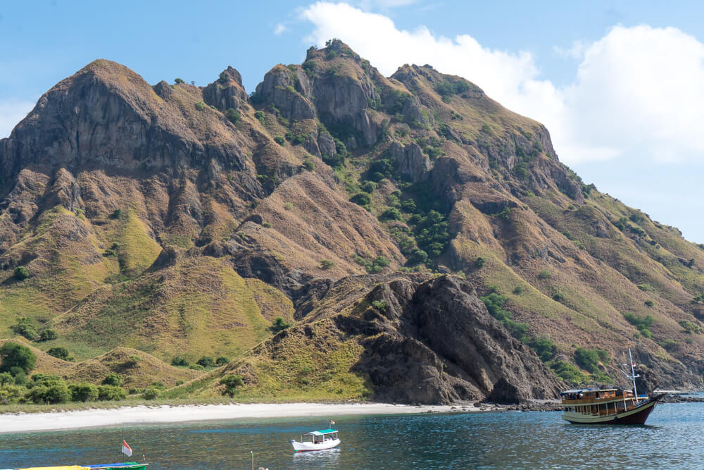 Scenery on Komodo Islands tour