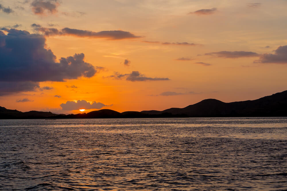 Sunset in Komodo National Park