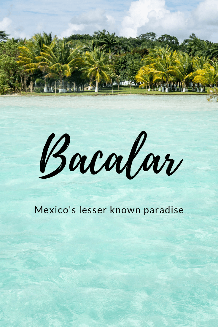 Bacalar Lagoon is one of the most beautiful places we've visited in Central America. For a small town there are so many things to do in Bacalar. Boat tours take you to some incredible places, from the swings at Cenote de Cocalitos to the stunning waters of the Canal de los Piratas. Any vacation to Mexico should include this small town in Quintana Roo, which has plenty of great local restaurants. Find out what else there is to do here and more with this guide! #mexico #centralamerica #paradise