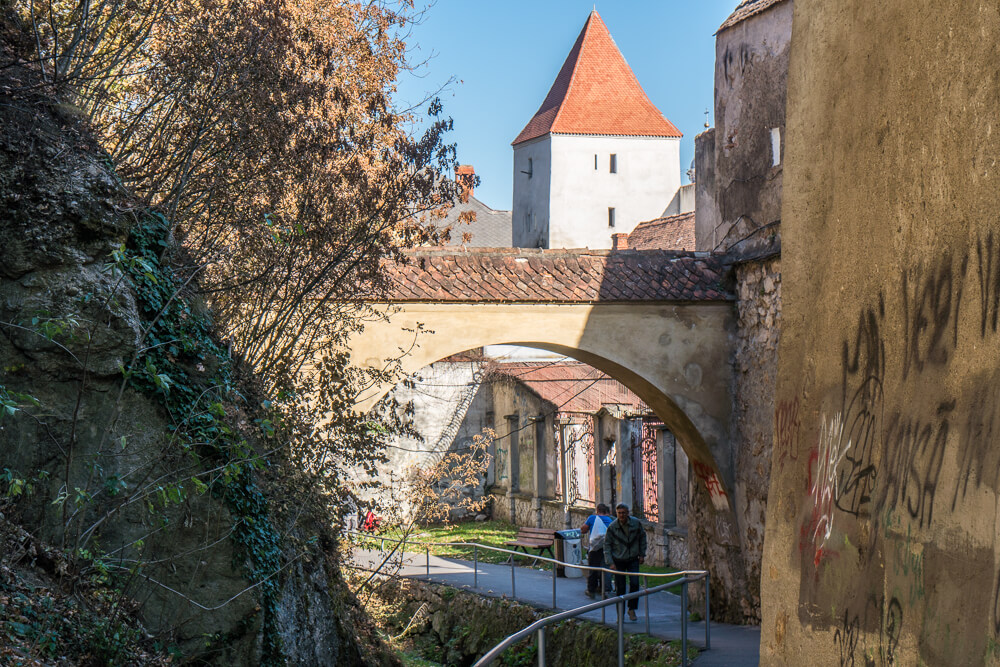 Alley to Graft Bastion in Brasov