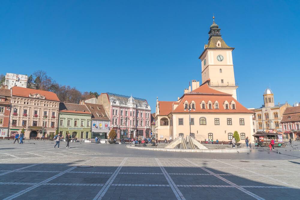Council Square, known as Piata Sfatului, in Brasov