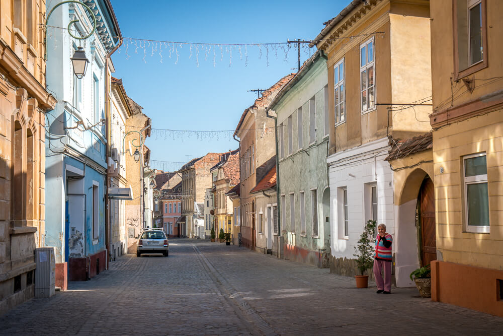 Street in Brasov Old Town