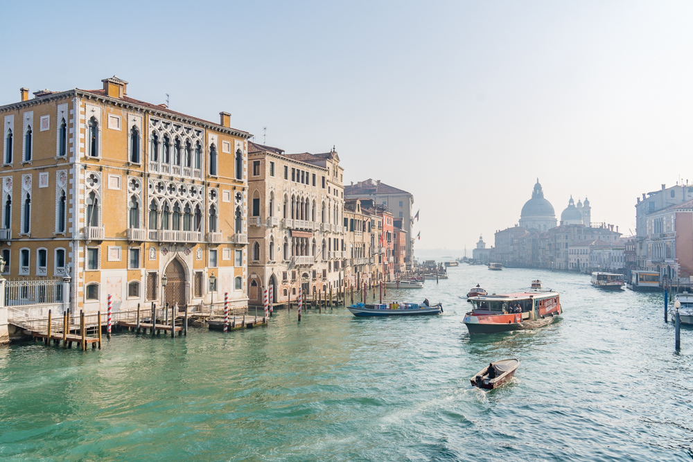 Vaporetto on the Grand Canal, Venice