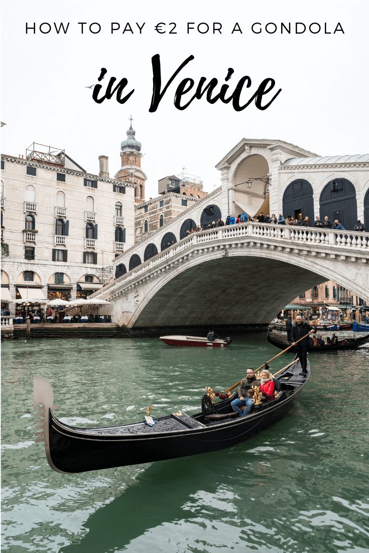 One of the top honeymoon destinations in Europe is Venice, and one of the bucket list things to do there is take a gondola ride. With these tips you can find out the different gondola rides available, alternatives as well as how to get a gondola ride for 2 euros each - one of our top tips for Venice. Check out this article to find out everything you need to know about the cost of a gondola ride in Venice, as well as the best alternatives to gondolas !#venice #europe #bucketlist