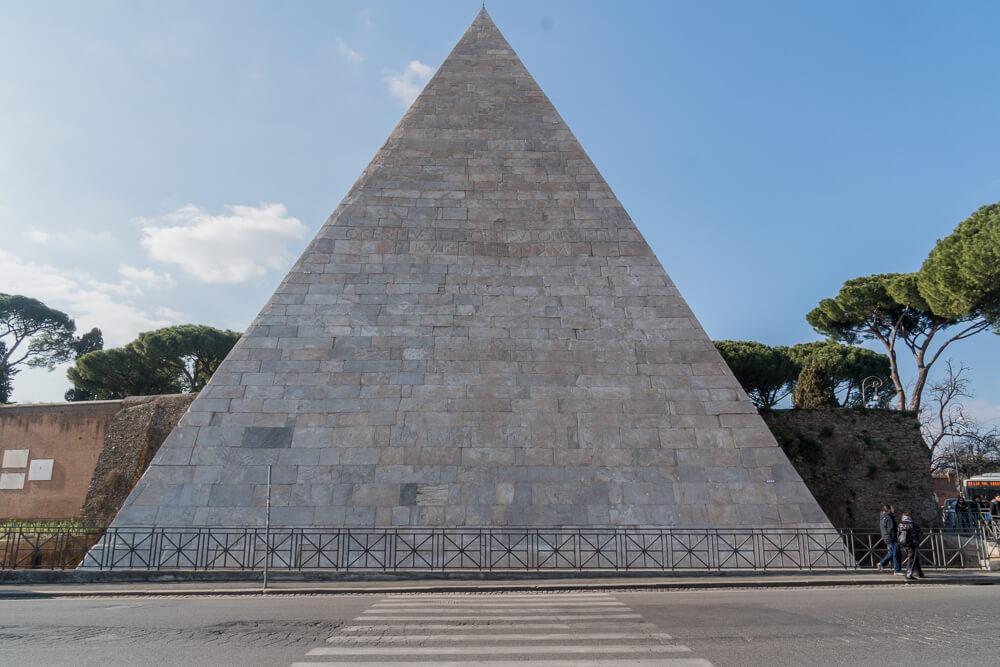 Pyramid of Cestius - one of Rome's hidden gems
