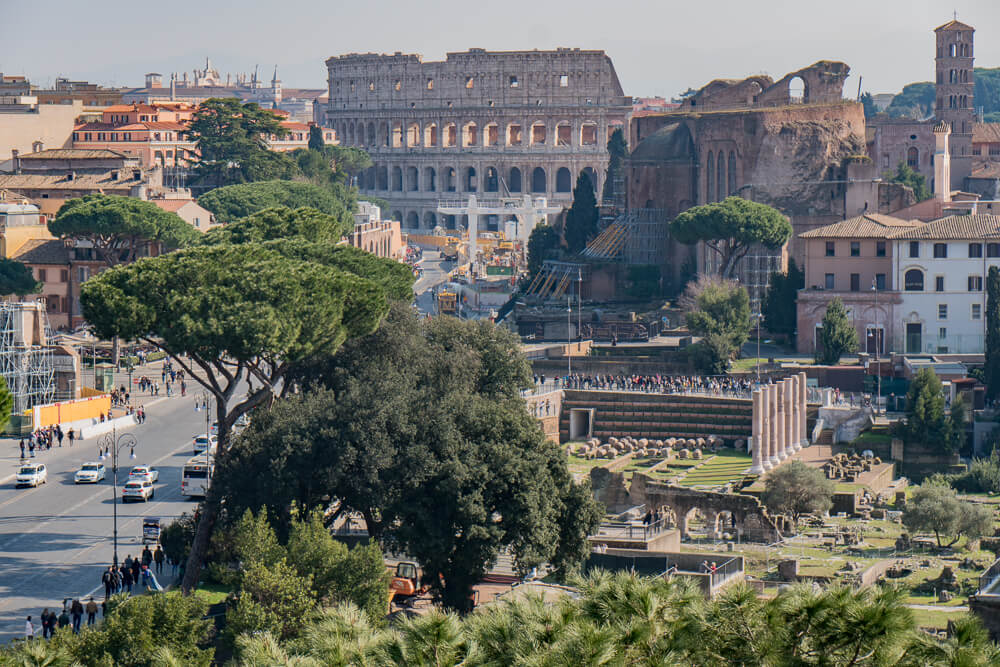 Roman Forum and Colosseum - both essential things to do in Rome in 2 days