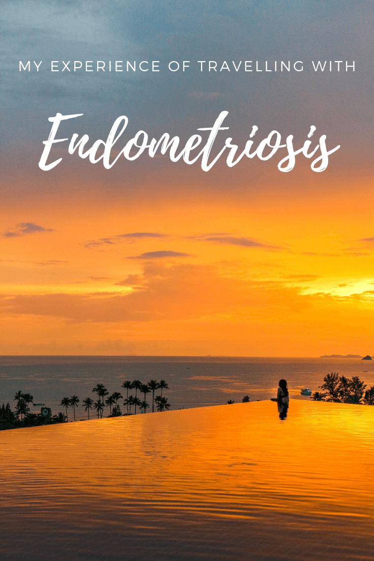 How to travel with endometriosis pin