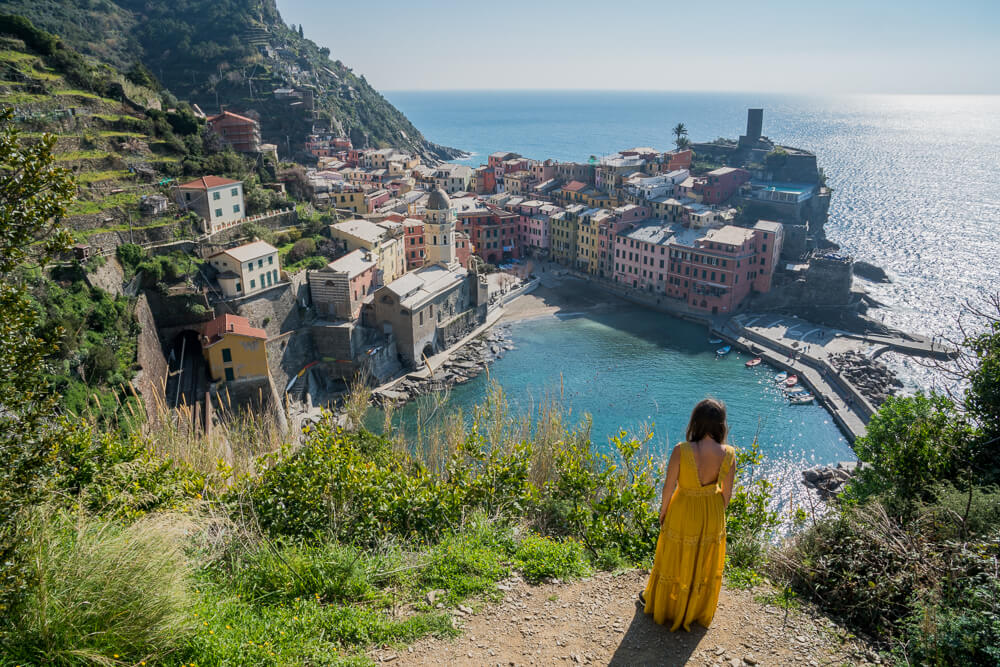 Vernazza viewpoint - one of the highlights of the 2 days Cinque Terre National Park itinerary
