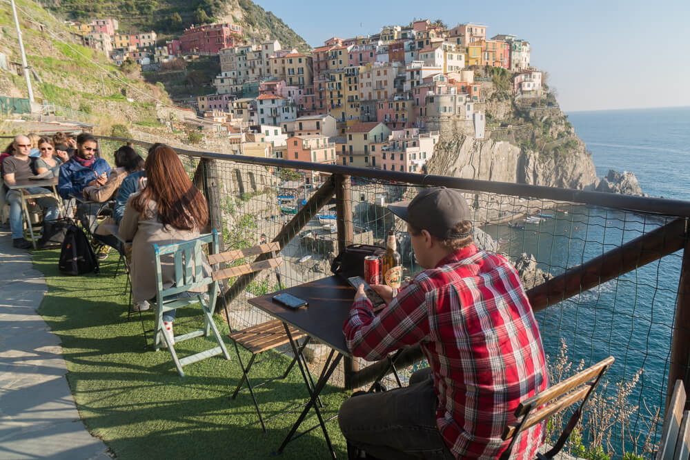 View of Manarola from Nessun Dorma bar