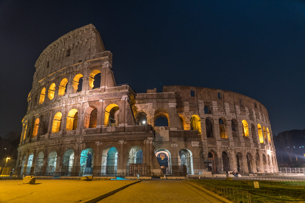 Visiting the Colosseum at night - one of the best things to do in Rome