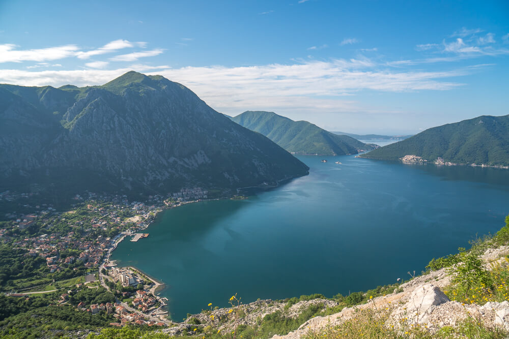 Viewpoint of the Bay of Kotor, Montenegro