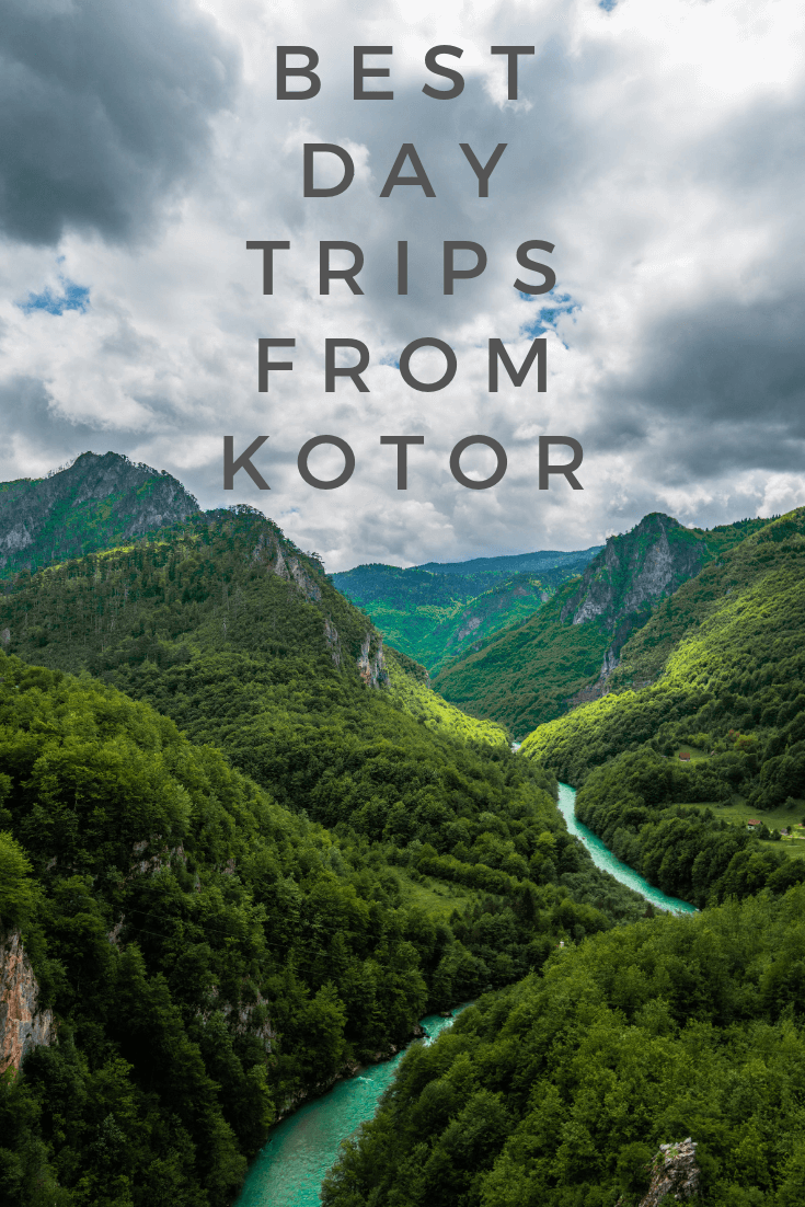 Best day trips and excursions from Kotor, Montenegro, pin