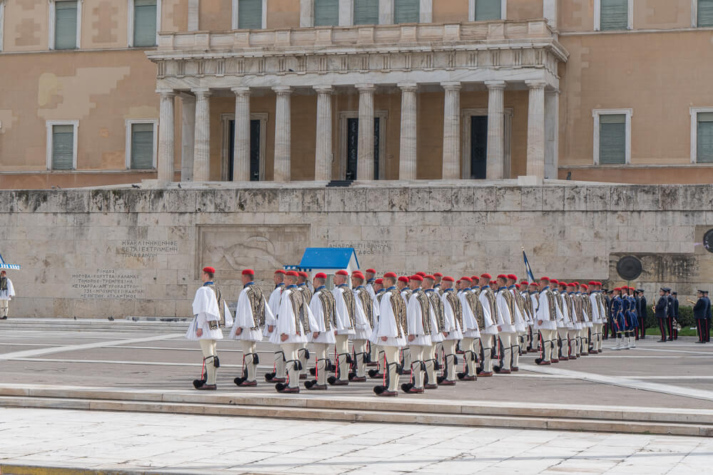 Changing of the guard in Syntagma, Athens