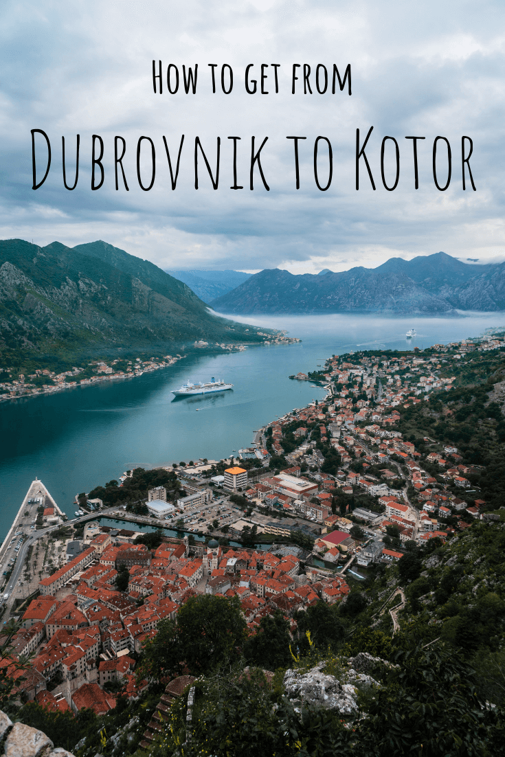 How to get from Dubrovnik to Kotor pin