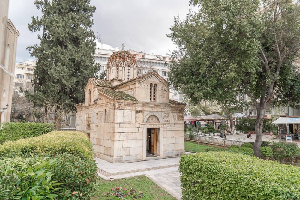 Litlle Metropolis church in Mitropolis Square, Central Athens