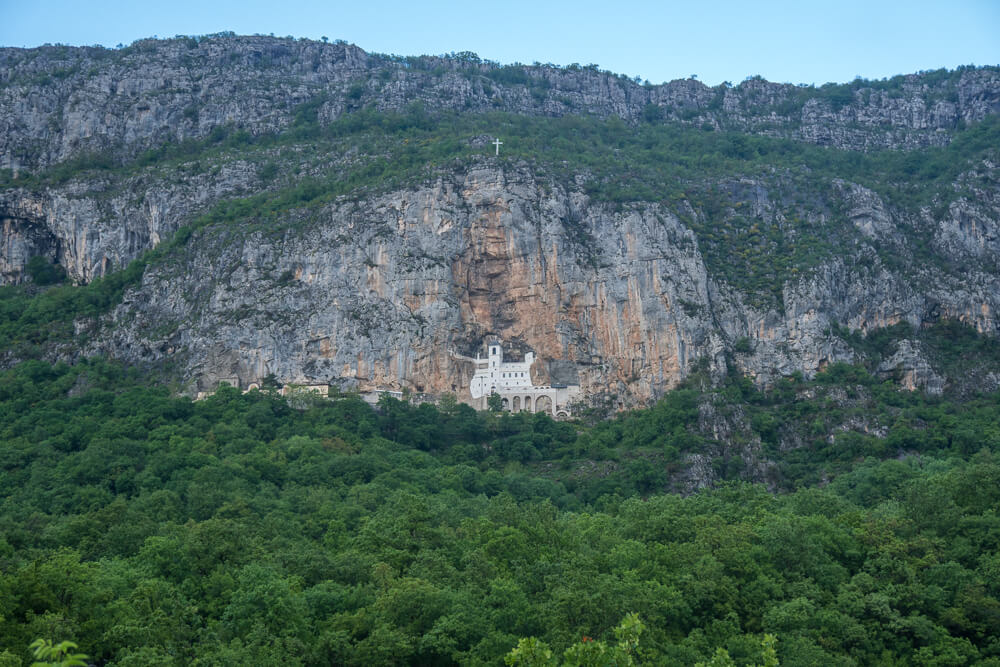 Ostrog Monastery - a beautiful spot to visit from Kotor