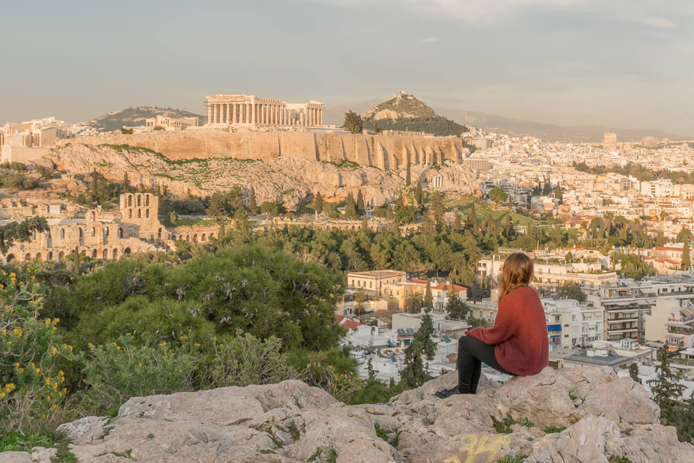 Philopappos Hill, one of the best places to visit for sunset in Athens