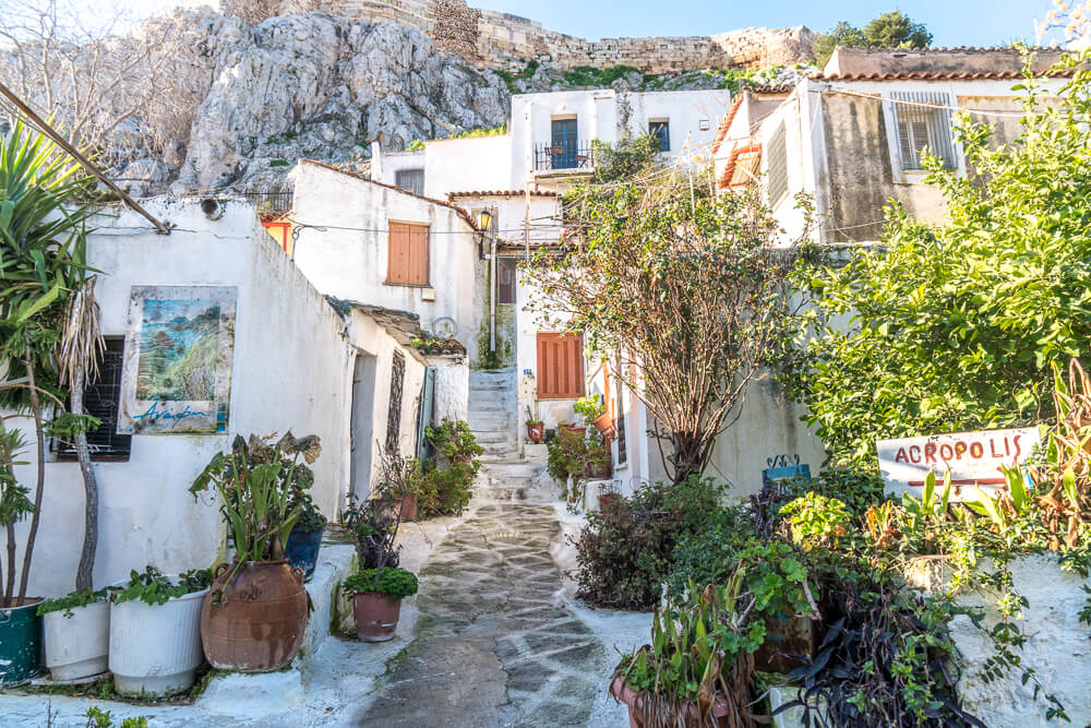 Anafiotika in Plaka - one of the best places to visit in Athens