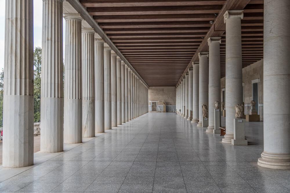 Stoa of Attalos in the Ancient Agora of Athens
