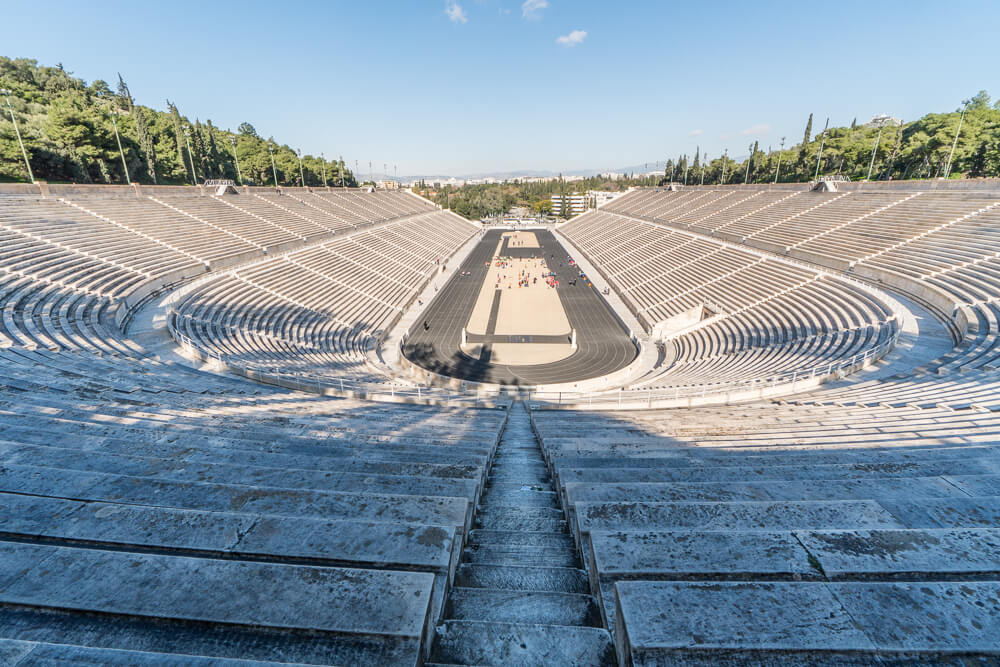 The Panathenaic Stadium, one of the most impressive places to visit in Athens, Greece