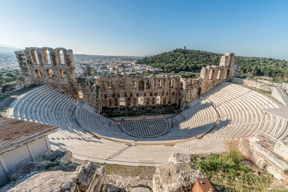 The Theatre of Dionysus at the Acropolis of Athens
