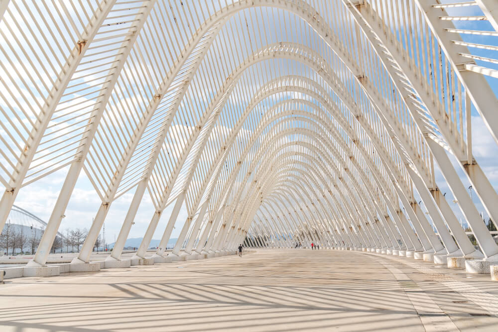 Unique archway at the Athens Olympic Sports Complex
