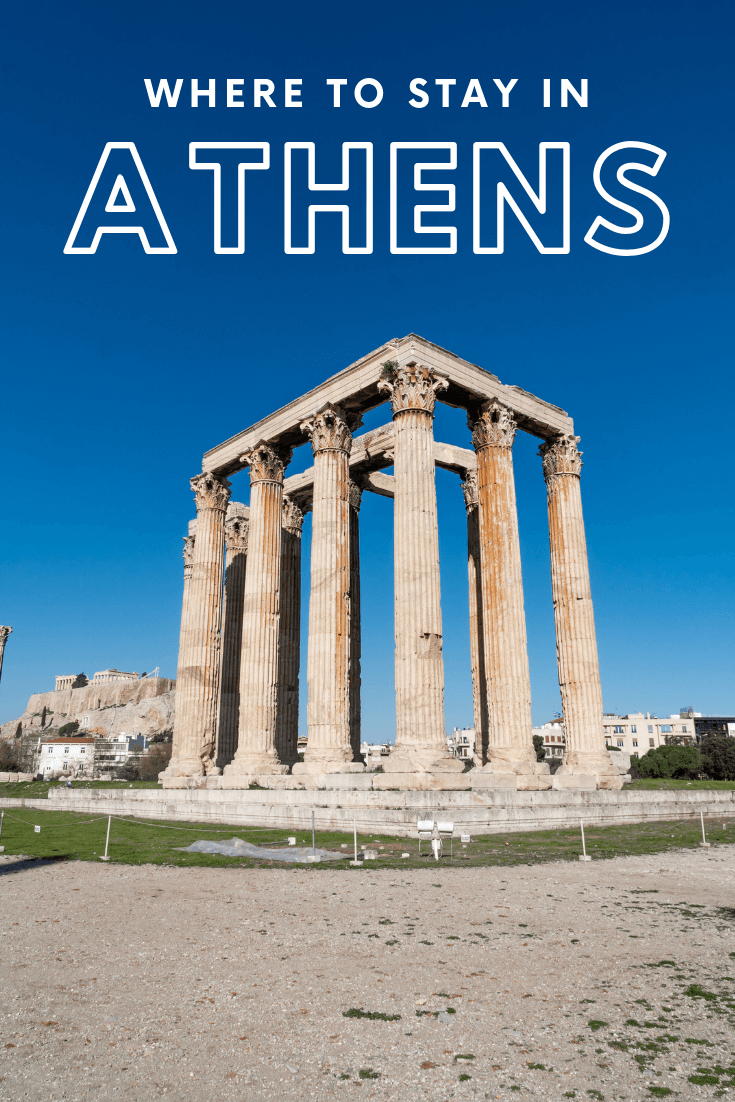 Where to stay in Athens, Greece, pin