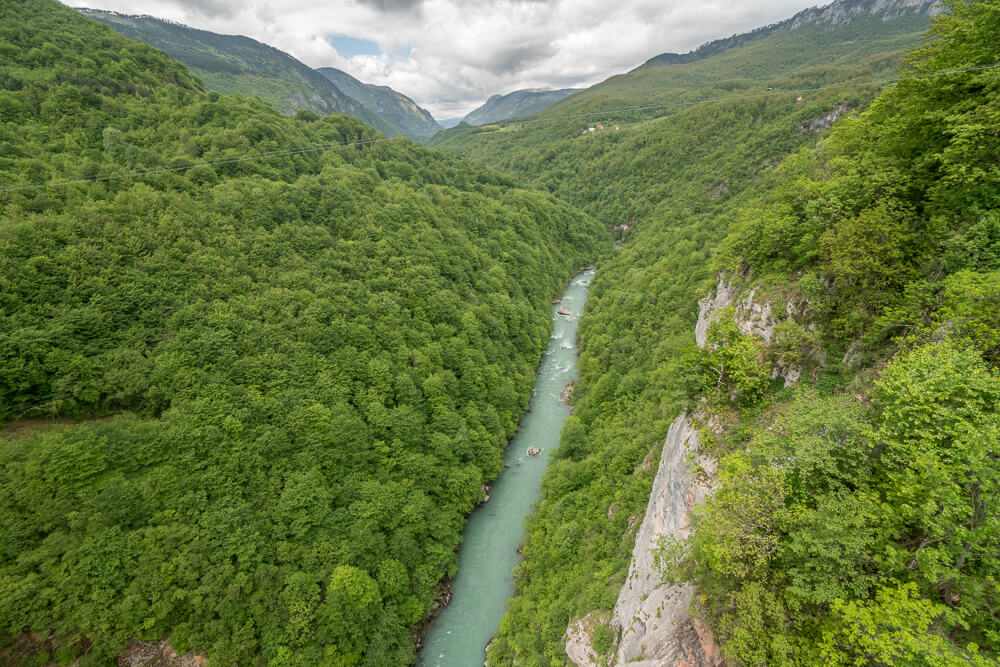 Whitewater rafting trips in the Tara River Canyon are a great option for adrenaline junkies looking for day trips from Kotor